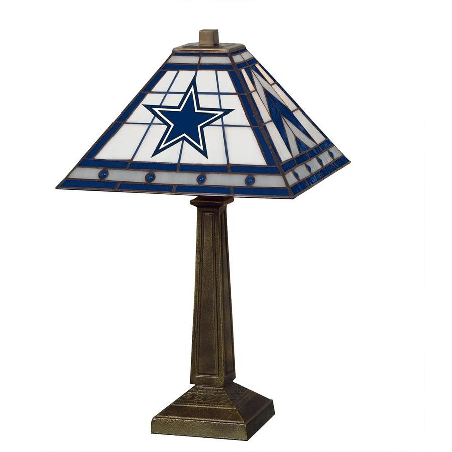 The Memory Company 23 In Dallas Cowboys Team Table Lamp With Glass