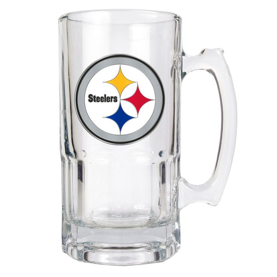 fc93aef621f GREAT AMERICAN Pittsburgh Steelers Glass Beer Mug Set at Lowes.com