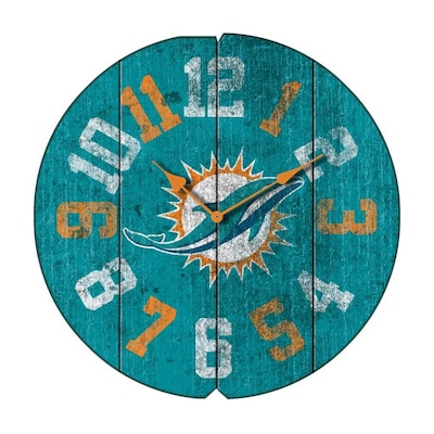 new concept d48fe 152db Imperial International Miami Dolphins NFL Vintage Clock ...