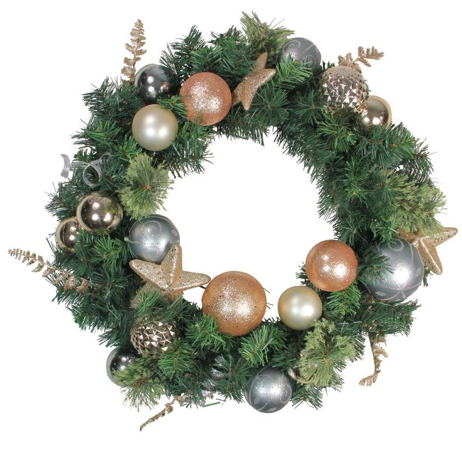 Northlight 24 In Gold Pine Artificial Christmas Wreath At Lowes Com