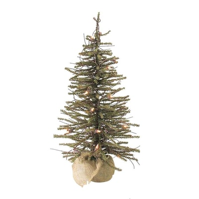 2 Ft White Christmas Tree: Northlight 2-ft Pre-Lit Twig Upside-down Artificial