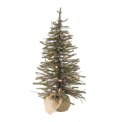Upside Down White Christmas Tree: Northlight 24-ft Pre-lit Twig Upside-down Artificial