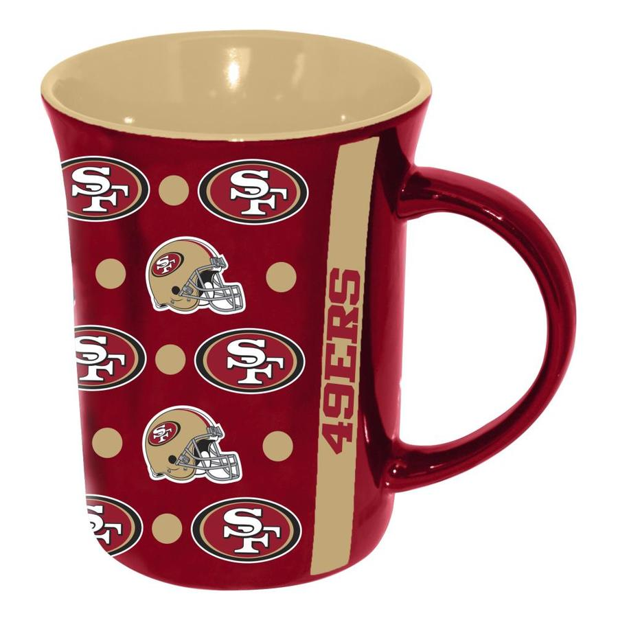San Francisco 49ers 15 oz Ceramic Coffee Mug with Metallic Graphics