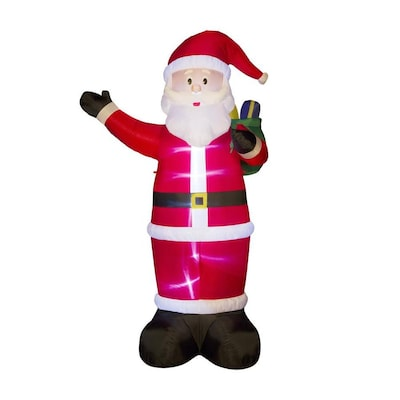 Glitzhome 11 81-ft Lighted Santa Christmas Inflatable at