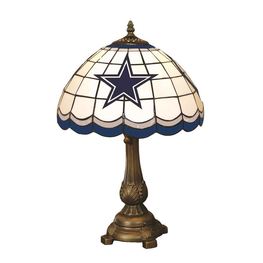 The Memory Company Dallas Cowboys Tiffany Lamp 19 5 In Bronze Table