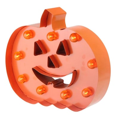 Northlight 10 In Led Lighted Orange Marquee Pumpkin