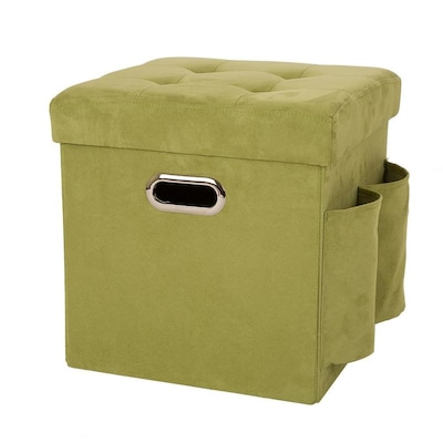 Pleasing Glitzhome Modern Green Microsuede Storage Ottoman At Lowes Com Short Links Chair Design For Home Short Linksinfo