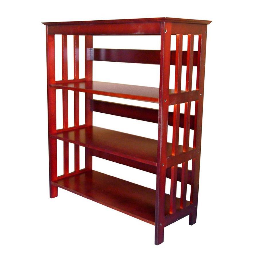 Cherry Wood 3 Shelf Bookcase