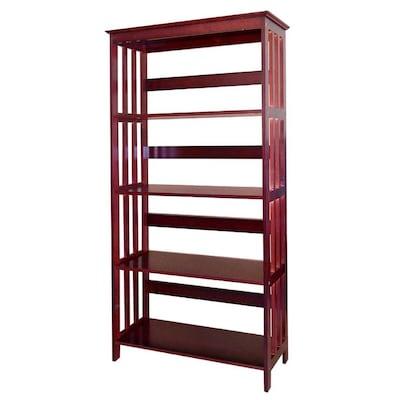 Harvest Cherry 5 Shelf Wood Bookcase Birmingham