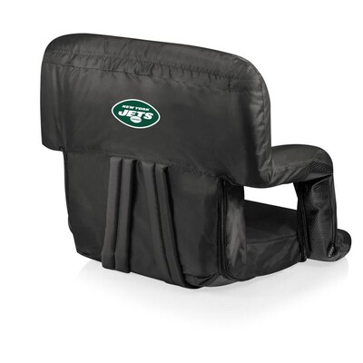 Excellent Picnic Time New York Jets Black Metal Padded Polyester Beatyapartments Chair Design Images Beatyapartmentscom