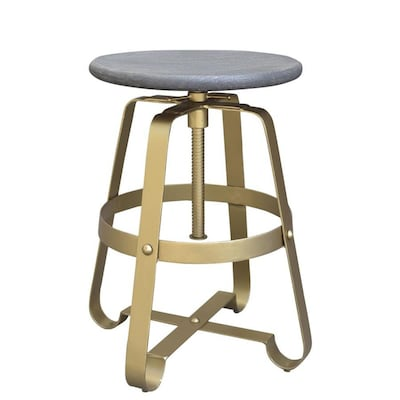 Marvelous Coast To Coast Pearman Gold Adjustable Stool At Lowes Com Short Links Chair Design For Home Short Linksinfo