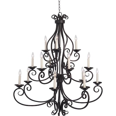 Maxim Lighting Manor 15 Light Oil Rubbed Bronze Traditional Chandelier In The Chandeliers Department At Lowes Com