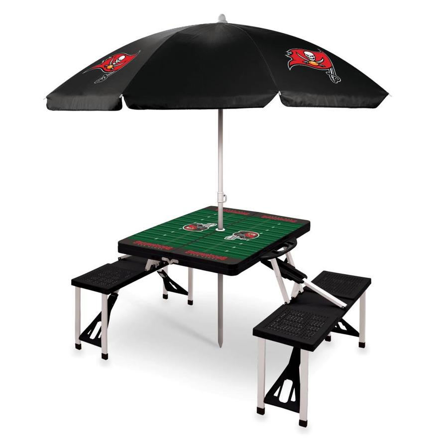- Picnic Time Tampa Bay Buccaneers 54-in Black Plastic Rectangle