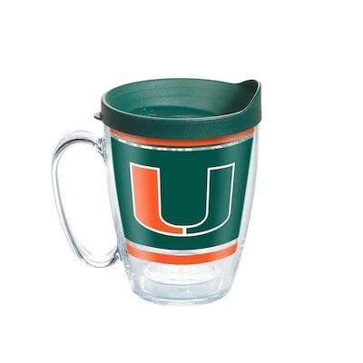 16 oz Stainless Steel Coffee Mug with handle Miami Hurricanes