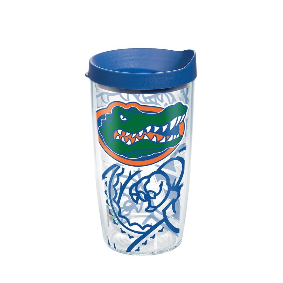 16 oz Tervis 1251591 NCAA Florida Gators All Over Tumbler With Lid Clear