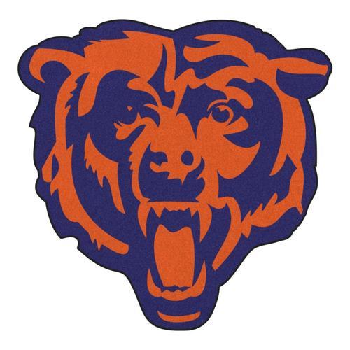 Fanmats Chicago Bears Mascot Mats Team Colors Irregular