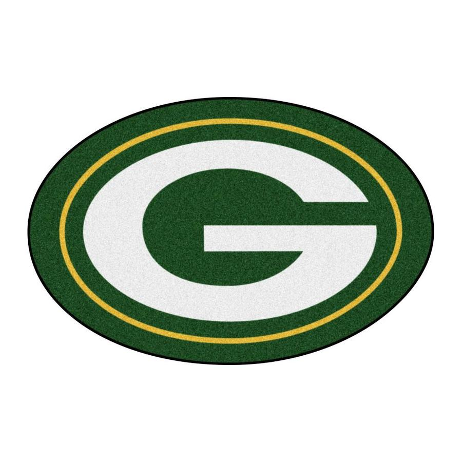 Fanmats Green Bay Packers Mascot Mats 2 X 3 Team Colors Irregular Indoor Solid Sports Area Rug In The Rugs Department At Lowes Com