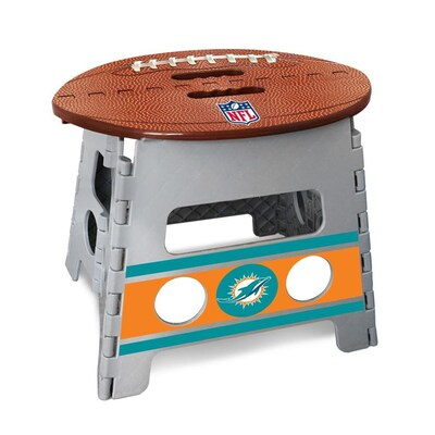 Excellent Fanmats Nfl Miami Dolphins Folding Step Stool 1 Step 13 In Ocoug Best Dining Table And Chair Ideas Images Ocougorg