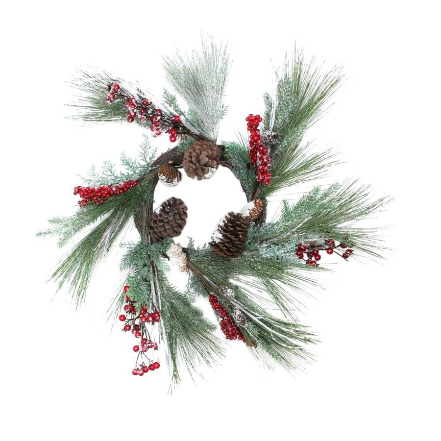 Vibrant Artificial Red Berry Burst Wreath 28 Inches Red Co. Great Front Door and Wall Winter Christmas Decoration