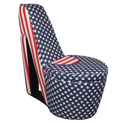 Super Ore International Modern American Flag Print Accent Chair At Inzonedesignstudio Interior Chair Design Inzonedesignstudiocom