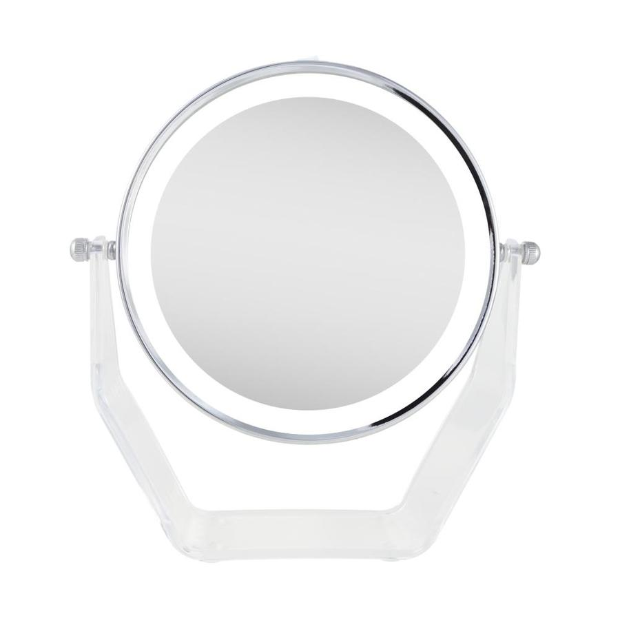 Zadro Next Generation Led Lighted 2 5 In X 8 25 In Chrome Double Sided Magnifying Countertop Vanity Mirror With Light In The Makeup Mirrors Department At Lowes Com
