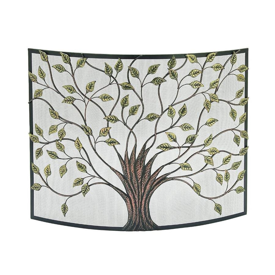 Benzara 7 In Antique Gold Copper Iron Panel Arched Fireplace Screen In The Fireplace Screens Department At Lowes Com