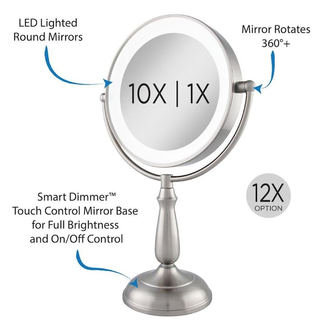 Zadro Next Generation Led Lighted Smart Dimmer 5 5 In X