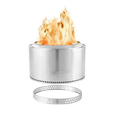 Solo Stove 30 In W Stainless Steel Silver Wood Burning