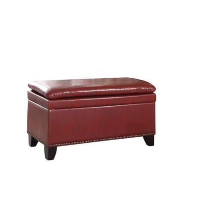 Phenomenal Ore International Modern Red Storage Bench At Lowes Com Creativecarmelina Interior Chair Design Creativecarmelinacom