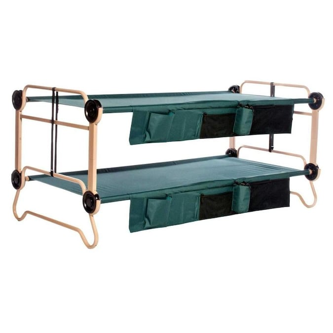 Disc-O-Bed X-Large Cam-O-Bunk Double Cot with Organizers 7 Inch Leg Extensions