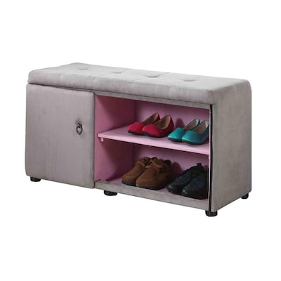 Magnificent Ore International 18 In Tall Storage Ottoman With Shoe Machost Co Dining Chair Design Ideas Machostcouk
