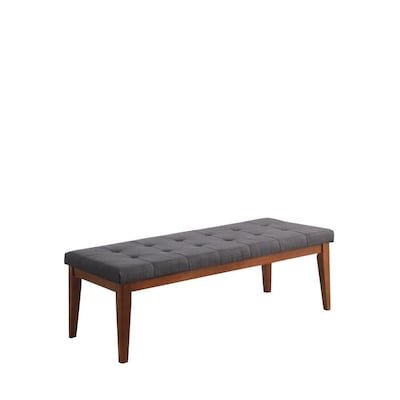 Magnificent Ore International Midcentury Dove Gray Accent Bench At Lowes Com Ibusinesslaw Wood Chair Design Ideas Ibusinesslaworg
