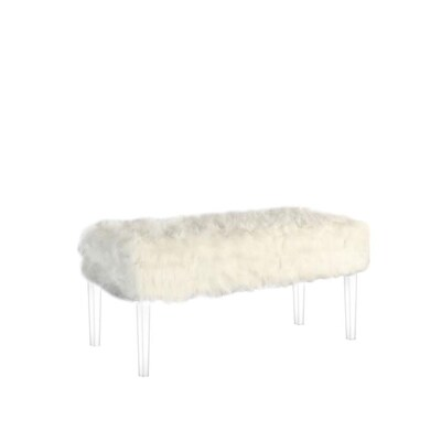 Strange Ore International Beverly Midcentury White Storage Bench At Beatyapartments Chair Design Images Beatyapartmentscom