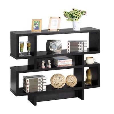 Incredible Benzara Black Modern Sofa Table At Lowes Com Theyellowbook Wood Chair Design Ideas Theyellowbookinfo