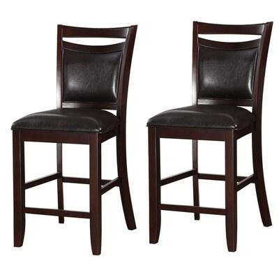 Swell Benzara Set Of 2 Modern Brown And Black Faux Leather Accent Inzonedesignstudio Interior Chair Design Inzonedesignstudiocom