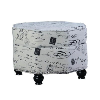 Groovy Ore International Modern White Abstract Storage Ottoman At Squirreltailoven Fun Painted Chair Ideas Images Squirreltailovenorg