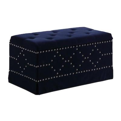 Wondrous Ore International Modern Indigo Blue Storage Bench At Lowes Com Pdpeps Interior Chair Design Pdpepsorg
