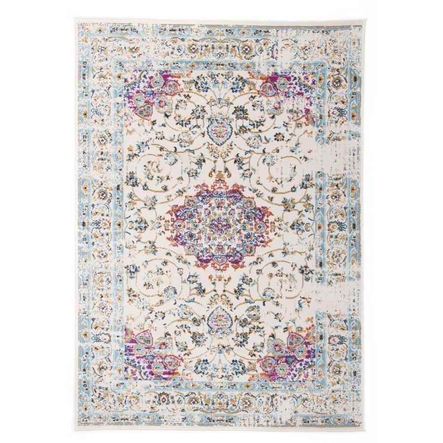 World Rug Gallery Avalon 8 X 10 Pink Indoor Distressed Overdyed Oriental Area Rug In The Rugs Department At Lowes Com