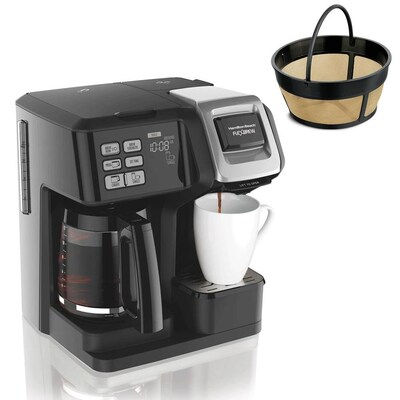 Hamilton Beach FlexBrew Programmable Coffee Maker and Cupcake Permanent Coffee Filter at Lowes.com