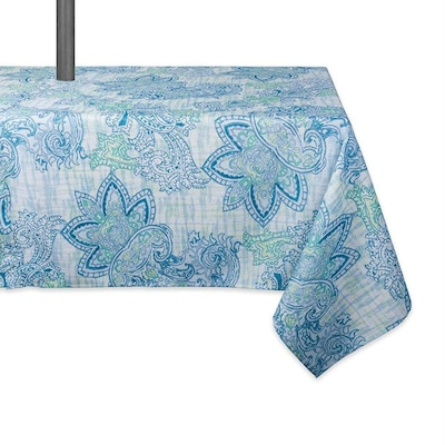 Dii Blue Table Cover For 6 Ft Rectangle At Lowes Com
