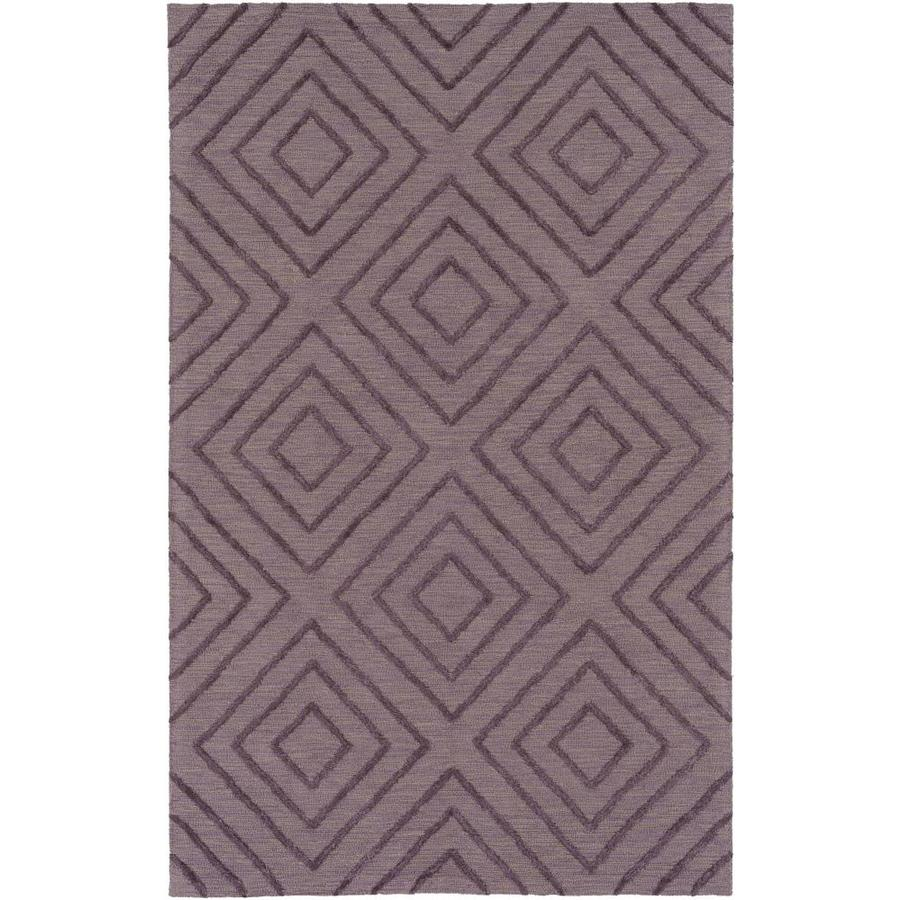 Surya Gable 12 X 15 Dark Purple Indoor Geometric Mid Century Modern Handcrafted Area Rug In The Rugs Department At Lowes Com