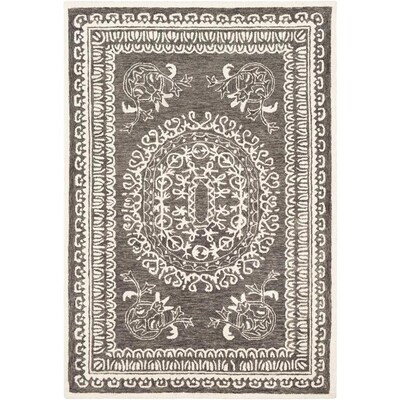 Surya Newcastle 6 Ft X 9 Ft Traditional Area Rug Black At