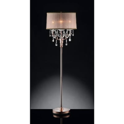 Ore International Rosie 62 In Silver And Crystal Floor Lamp In The Floor Lamps Department At Lowes Com