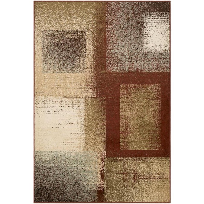 Surya Paramount 9 X 12 Burgundy Indoor Abstract Industrial Area Rug In The Rugs Department At Lowes Com