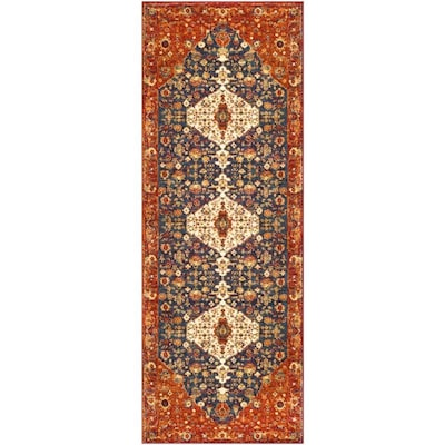 Surya Serapi 2 Ft7 In X 7 Ft3 In Traditional Area Rug Burgundy At