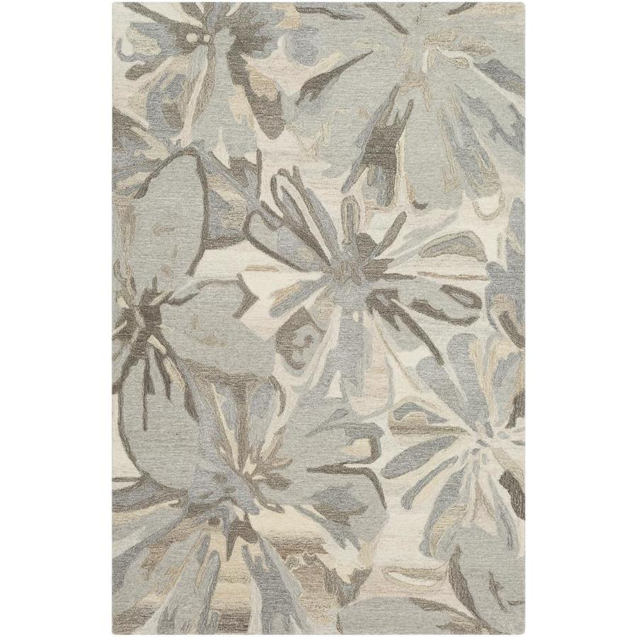 Surya Athena 6 X 9 Beige Indoor Abstract Industrial Handcrafted Area Rug In The Rugs Department At Lowes Com