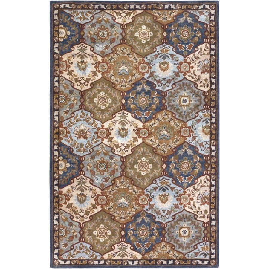 Surya Caesar 5 X 8 Blue Indoor Trellis Oriental Handcrafted Area Rug In The Rugs Department At Lowes Com