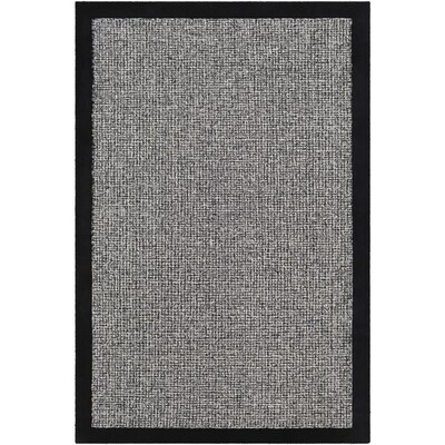 Surya Siena 9 Ft X 12 Ft Solid And Border Area Rug Black At