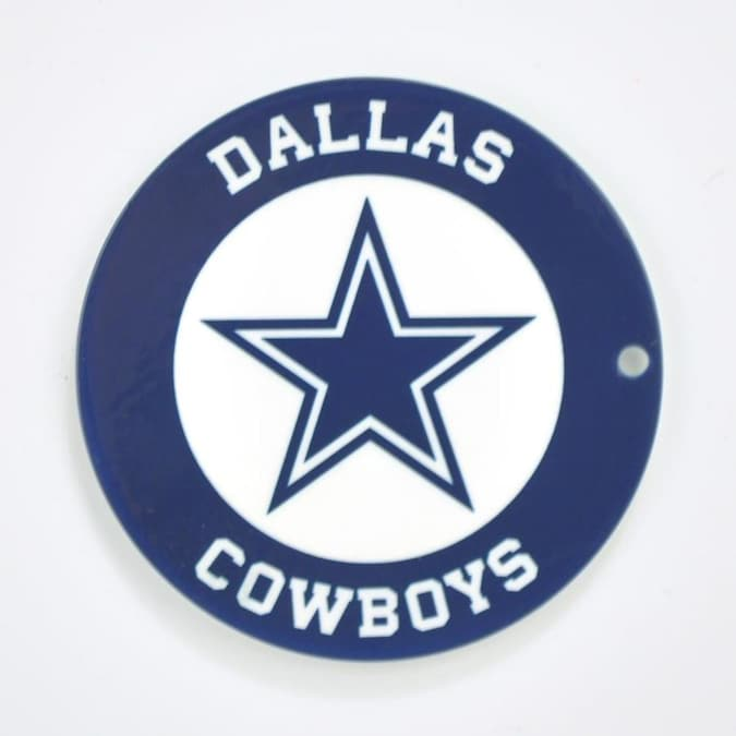 Authentic Street Signs Dallas Cowboys Logo Signs Metal Frameless 12 In H X 12 In W Sports Metal Sign In The Wall Art Department At Lowes Com