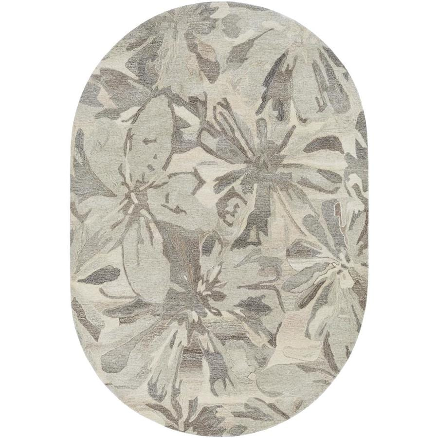 Surya Athena 6 X 9 Beige Oval Indoor Abstract Industrial Handcrafted Area Rug In The Rugs Department At Lowes Com